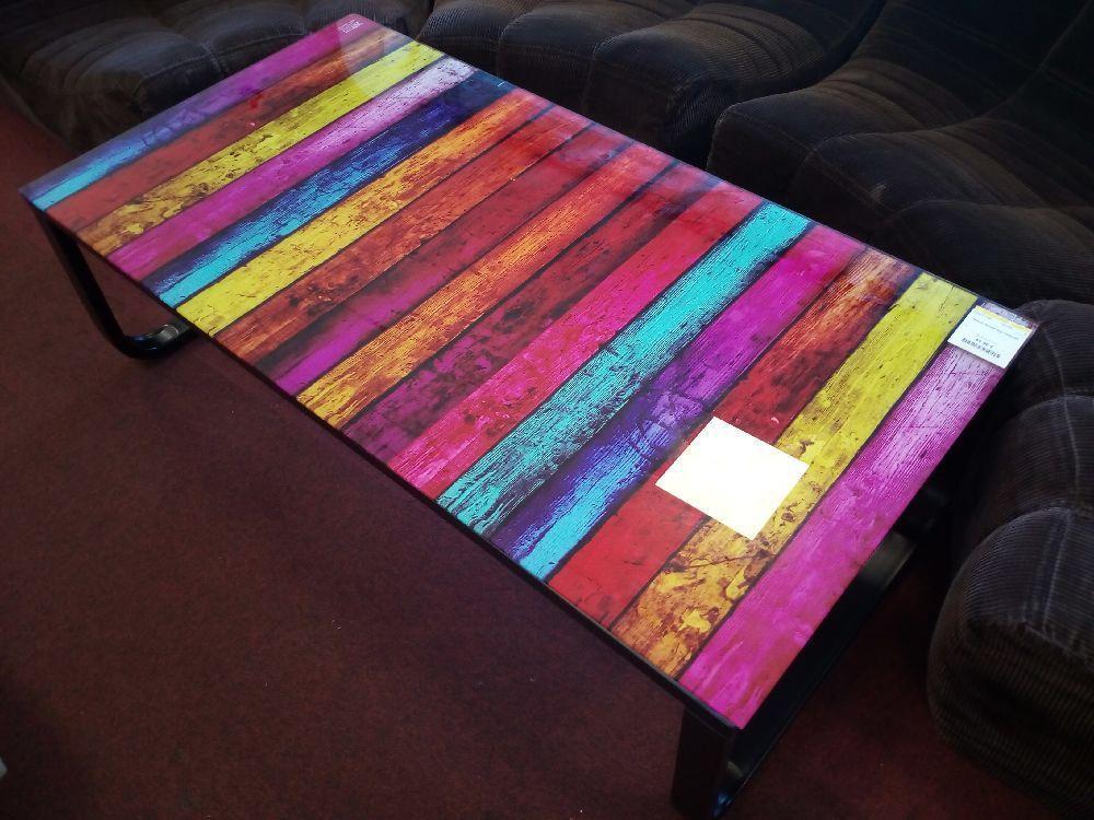 table basse multicolor neuf la cabane du troc. Black Bedroom Furniture Sets. Home Design Ideas