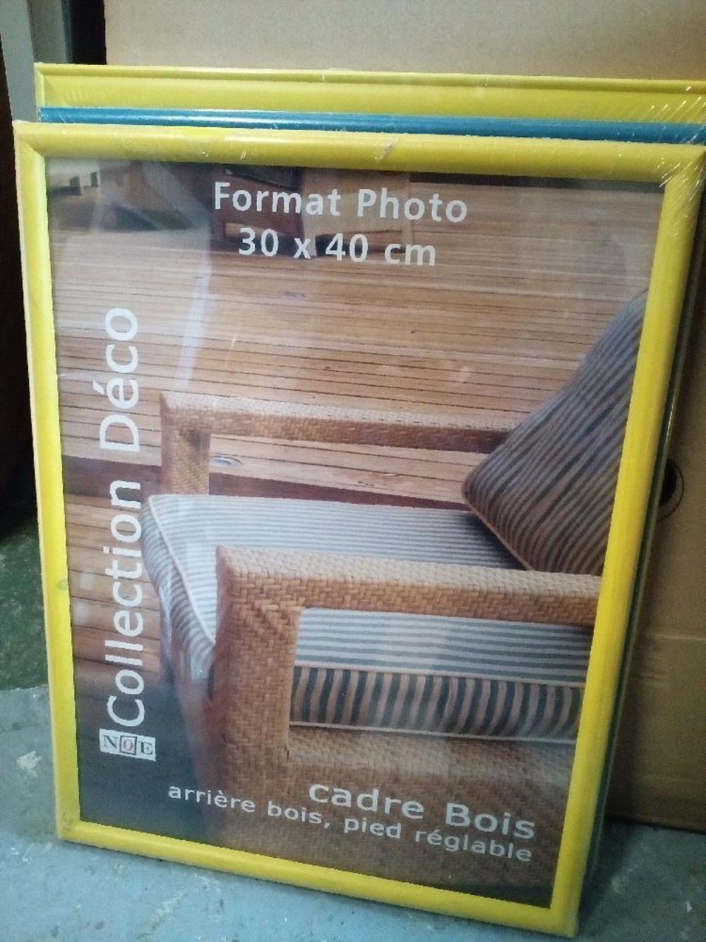 cadre photo 30x40 occasion la cabane du troc. Black Bedroom Furniture Sets. Home Design Ideas
