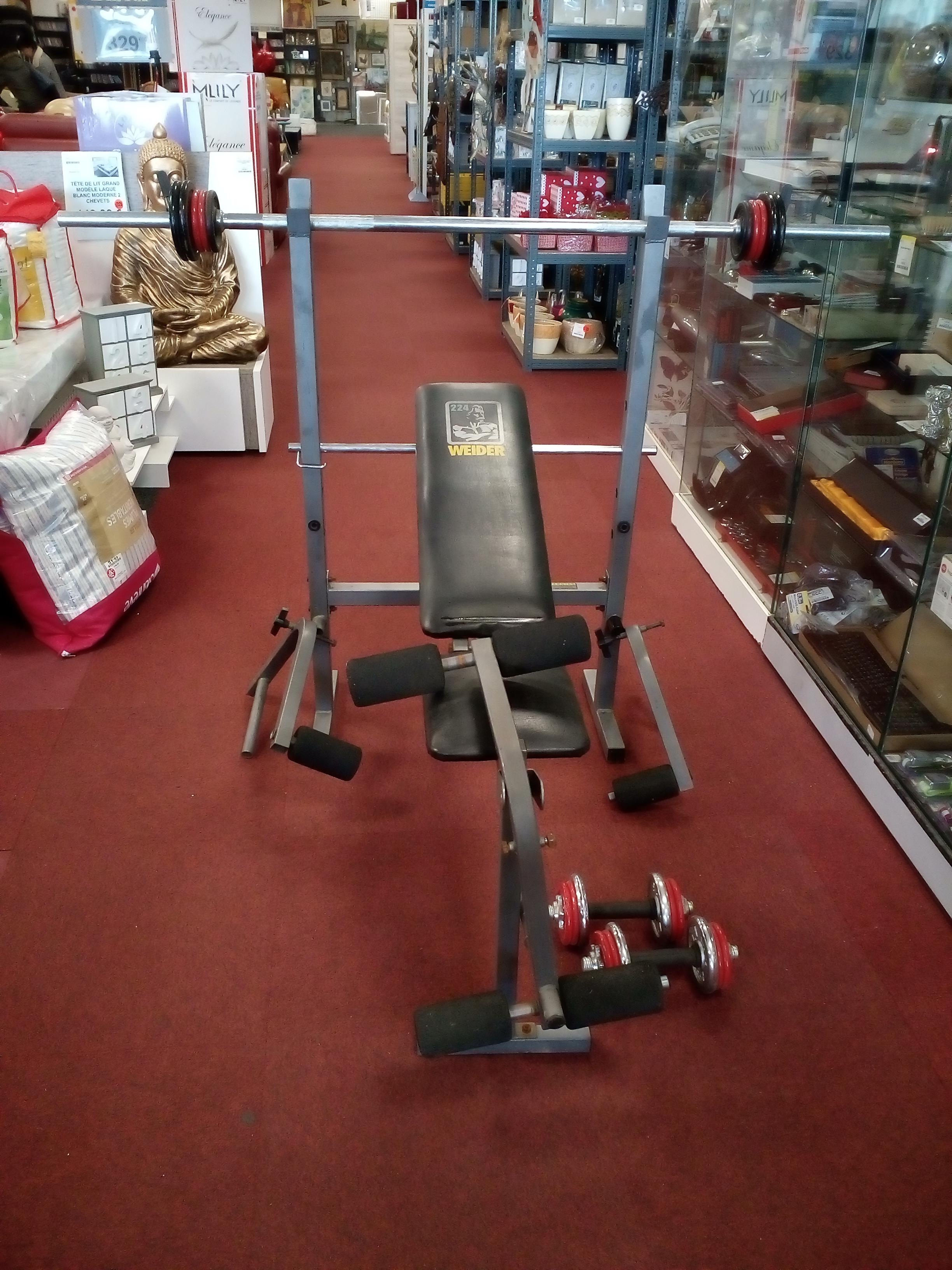 Banc de musculation accessoires occasion la cabane du troc - Banc de musculation complet occasion ...