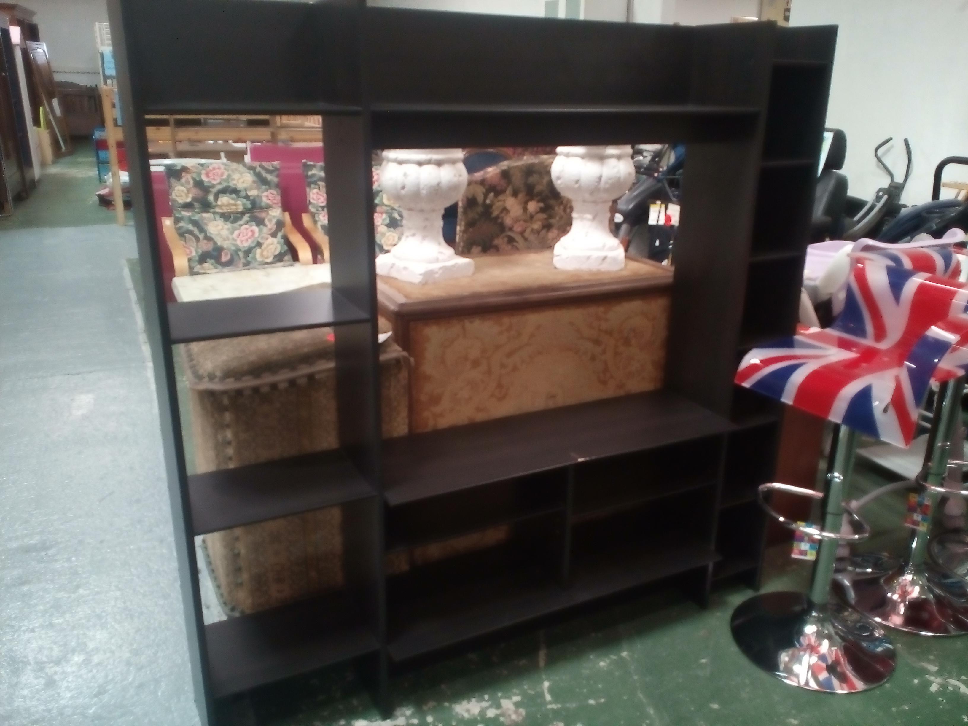 tag re meuble tv noire occasion la cabane du troc. Black Bedroom Furniture Sets. Home Design Ideas