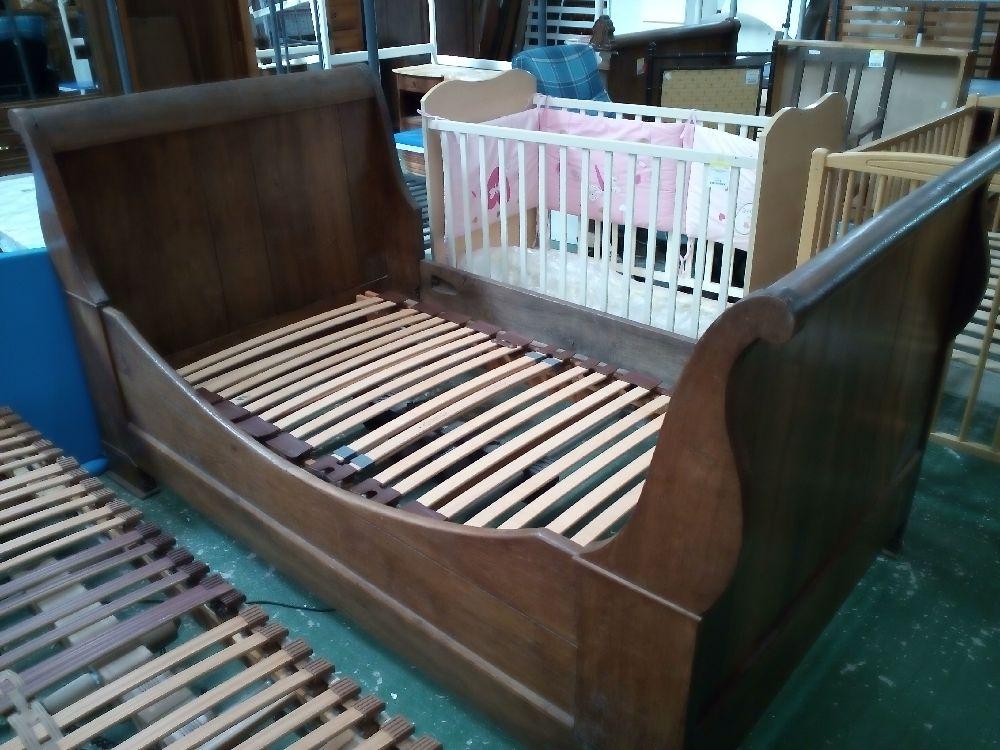 lit ancien style lph 105 cm occasion la cabane du troc. Black Bedroom Furniture Sets. Home Design Ideas
