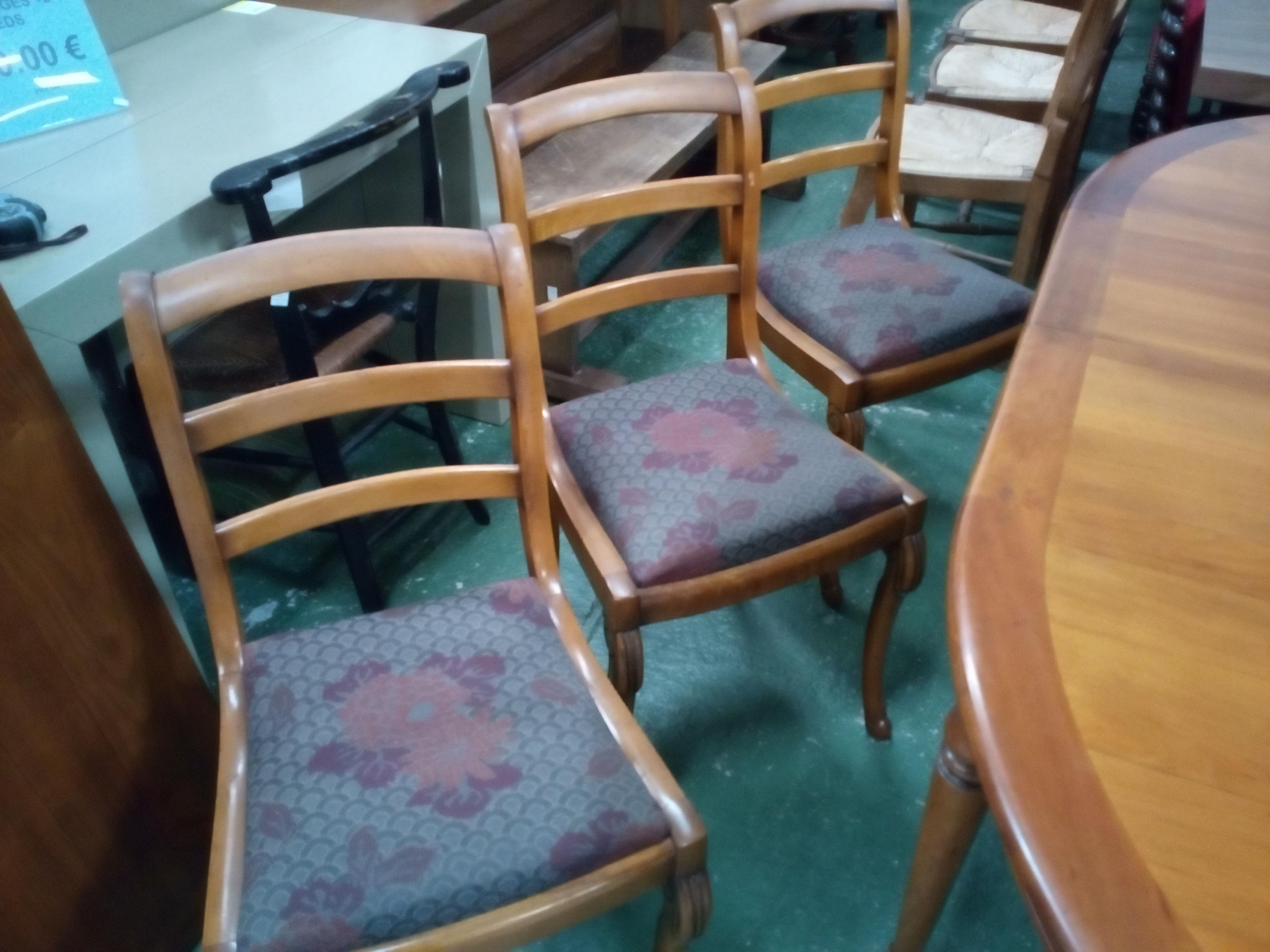 chaise lot de 6 occasion la cabane du troc. Black Bedroom Furniture Sets. Home Design Ideas