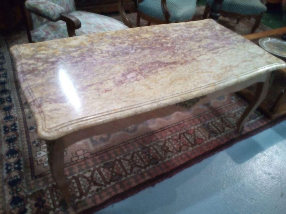 Table Basse Marbre Style Lxv Occasion La Cabane Du Troc