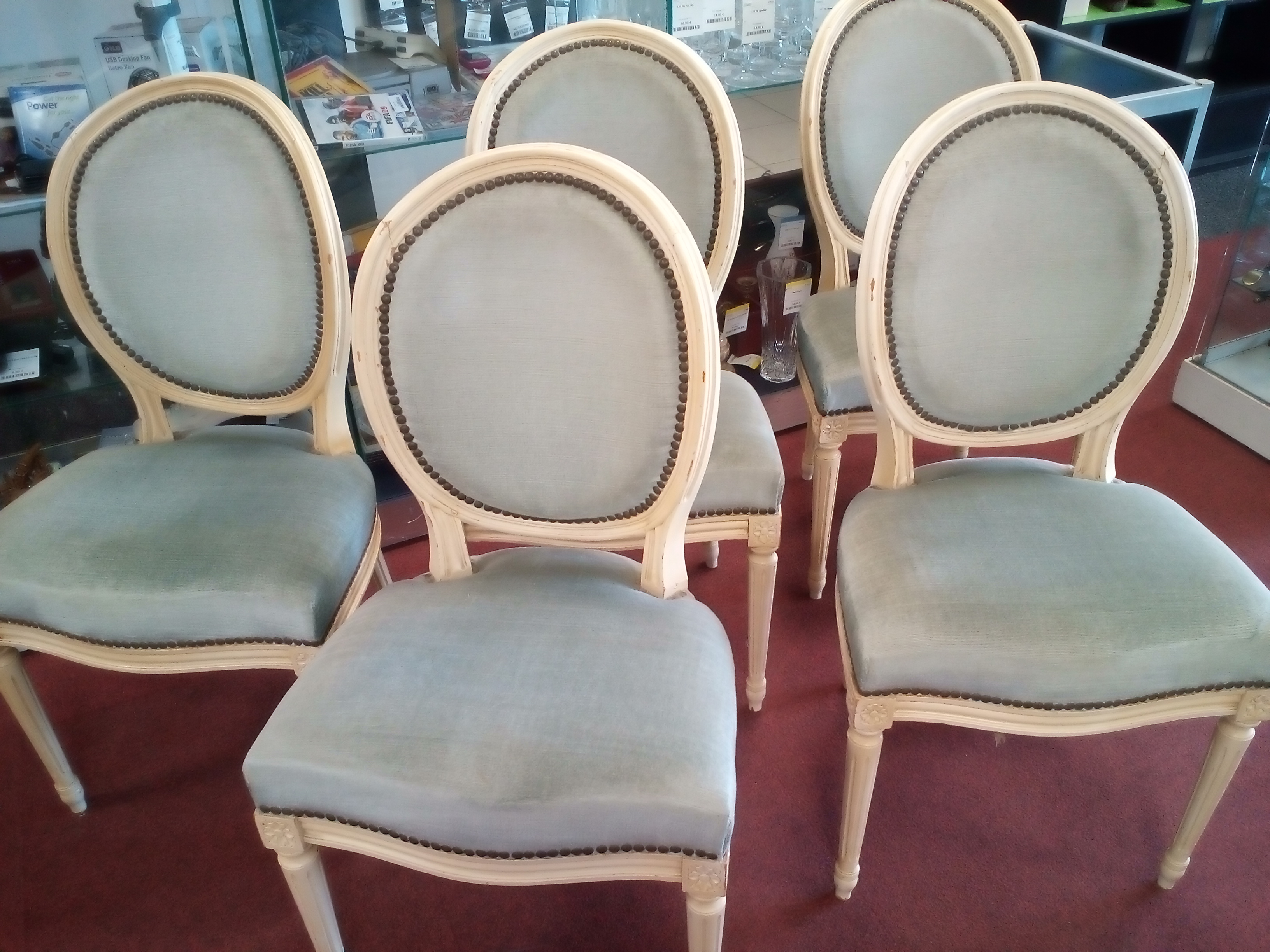CHAISES MEDAILLON LE LOT DE 6