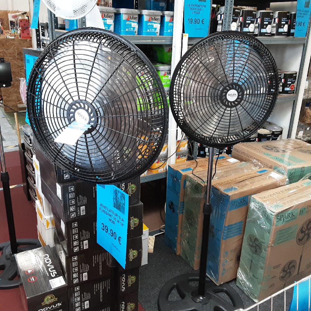 PROMO LOT DE 2 VENTILATEURS NOIR