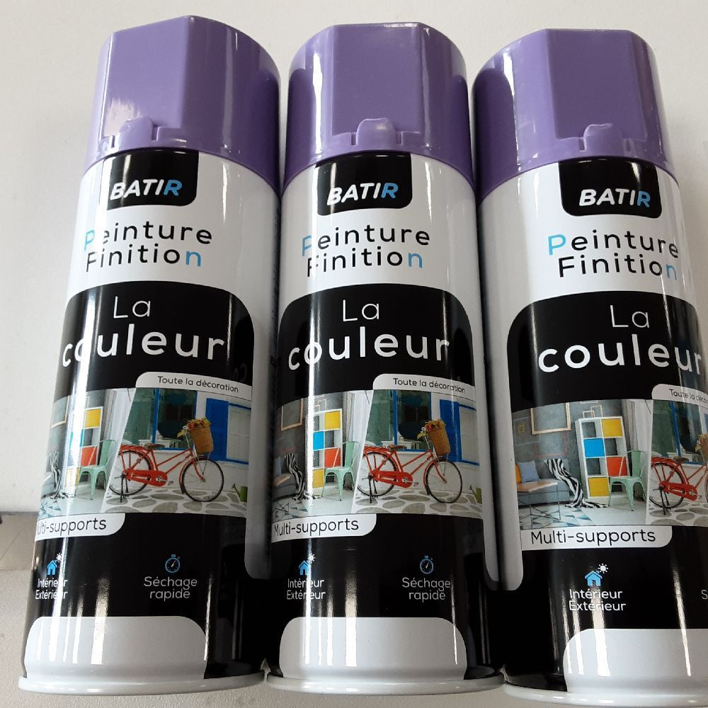 AEROSOL LILAS BRILLANT FABRIQUE EN FRANCE