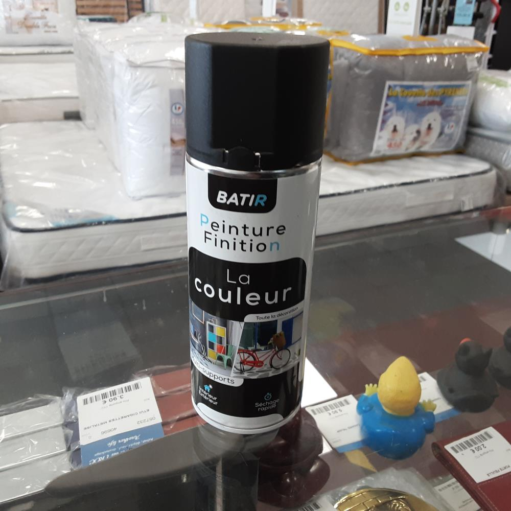 AEROSOL NOIR SATIN FABRIQUE EN FRANCE