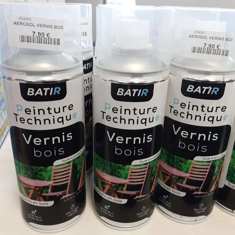 AEROSOL VERNISBOIS  SATIN FABRIQUE EN FRANCE