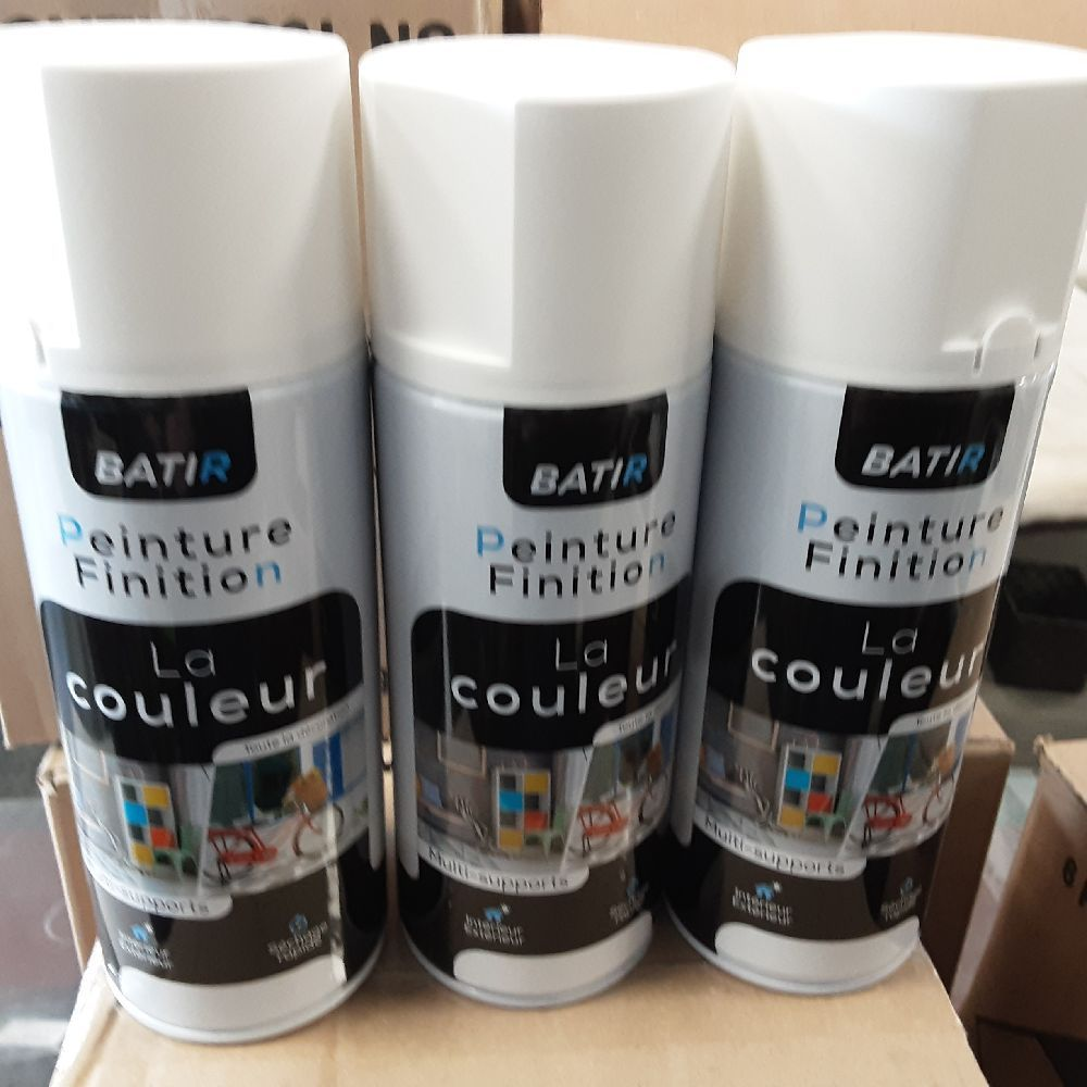 AEROSOL BLANC MAT 400 ML FABRICATION FRANCE