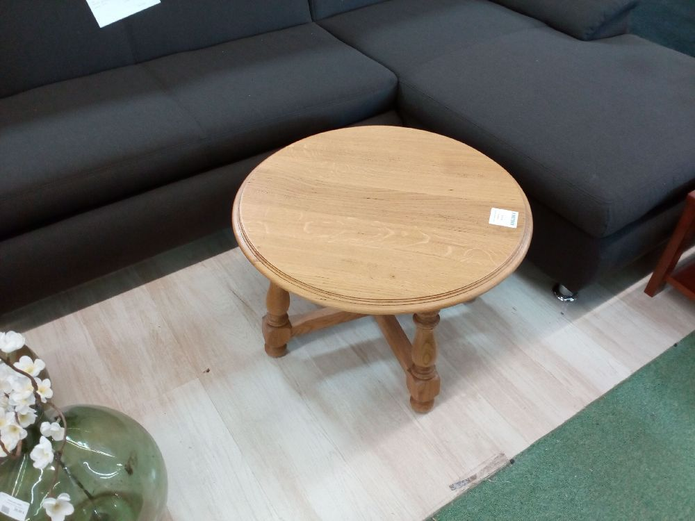 TABLE BASSE RONDE CHENE