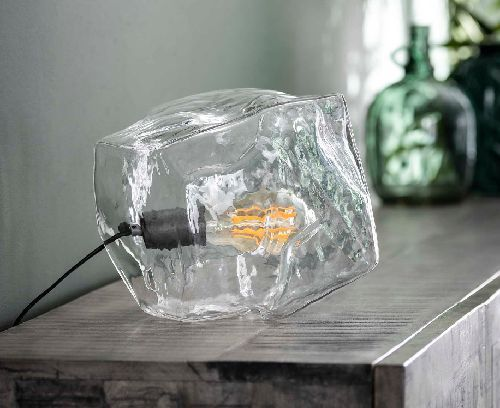 LAMPE A POSER ROCK CLEAR VERRE TRANSPARENT (7220/39H POSSIBLE COMMANDER)