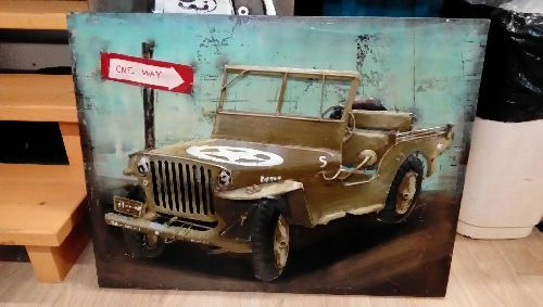 CADRE METAL JEEP WILLY