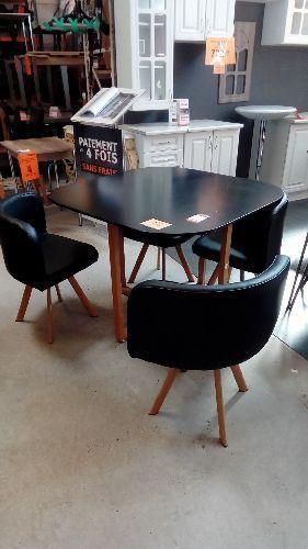 table 4 chaises encastrables noir 3