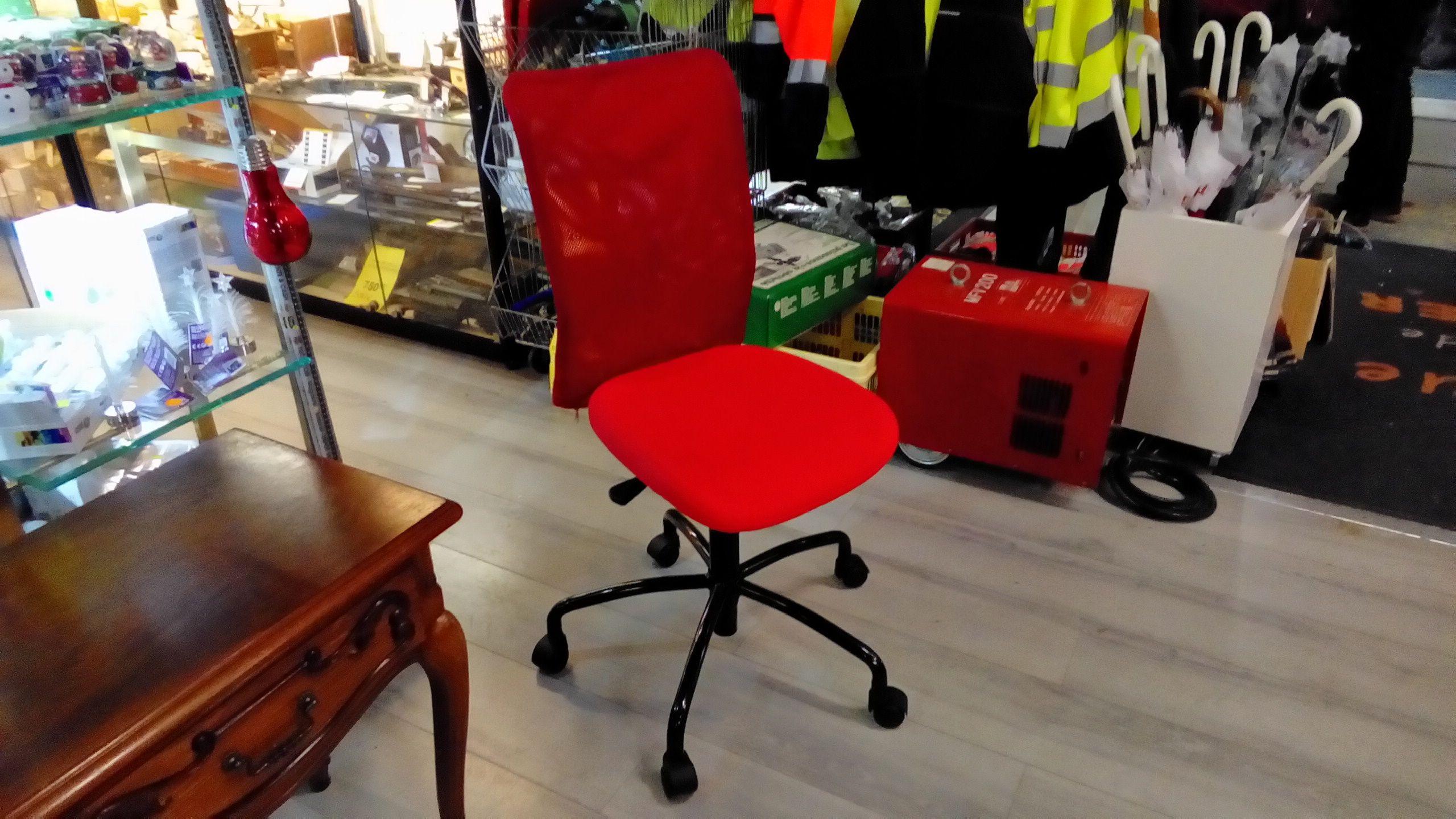 Chaise de bureau rouge noir occasion troc richwiller