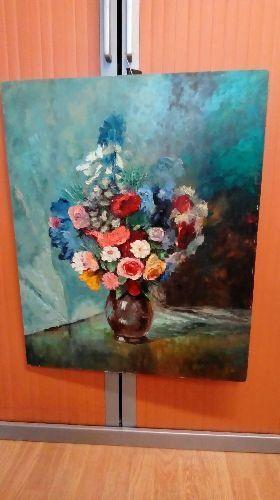 Peinture Sur Bois Fleur Signé Marker Occasion Troc Richwiller