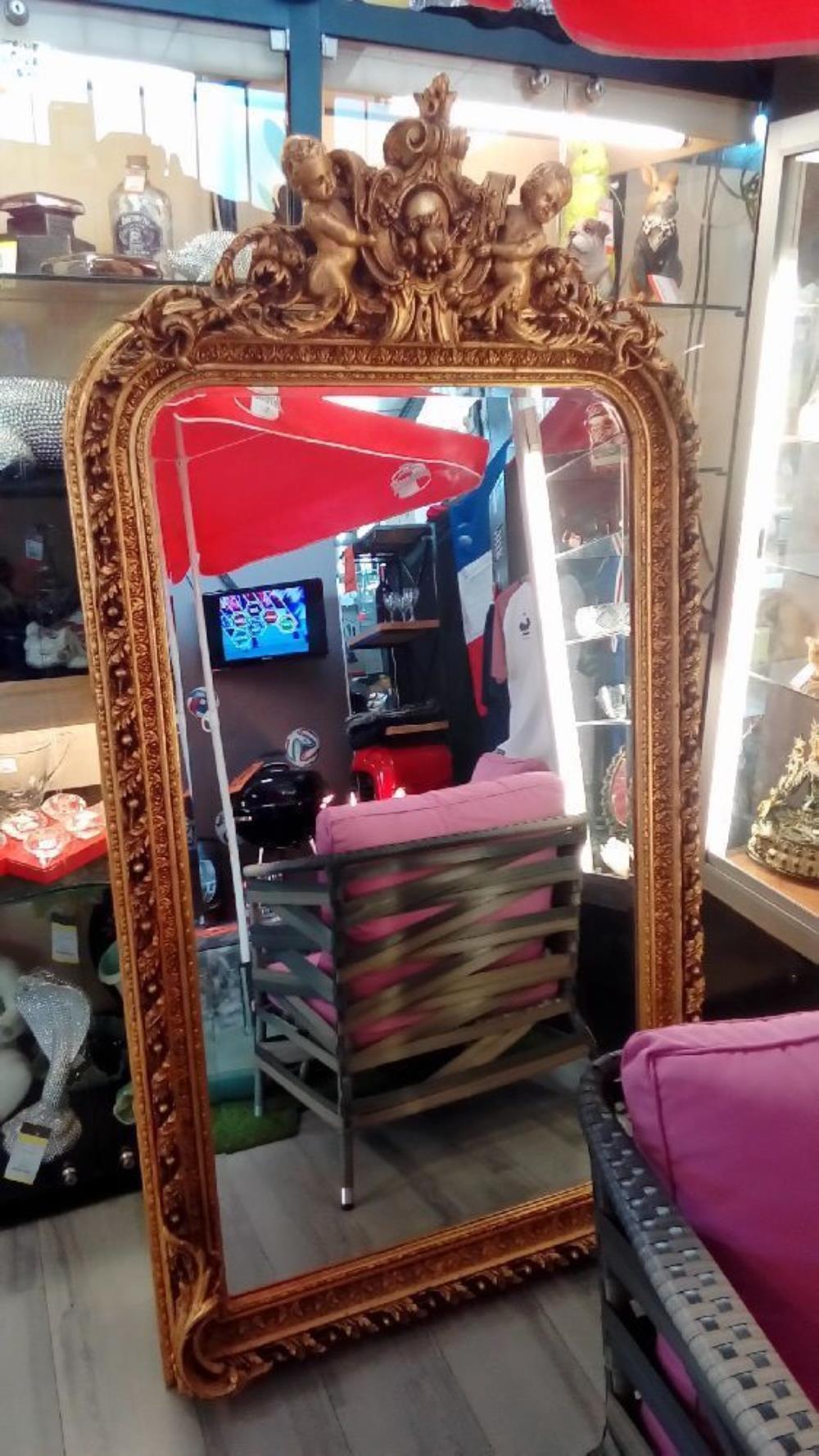 miroir dore biseaute occasion troc richwiller. Black Bedroom Furniture Sets. Home Design Ideas