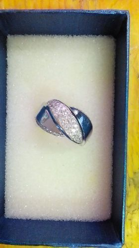 BAGUE OR GRIS 24CARATS 13,75GR PIERRES