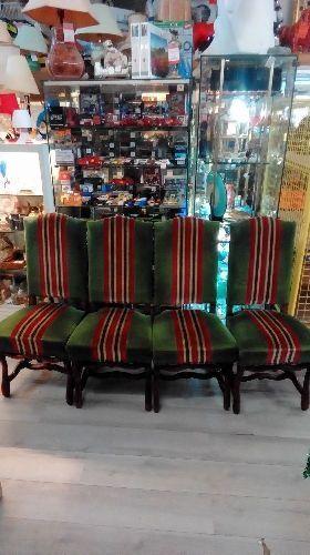 lot de 4 chaises style espagnol pied de mouton occasion troc richwiller. Black Bedroom Furniture Sets. Home Design Ideas