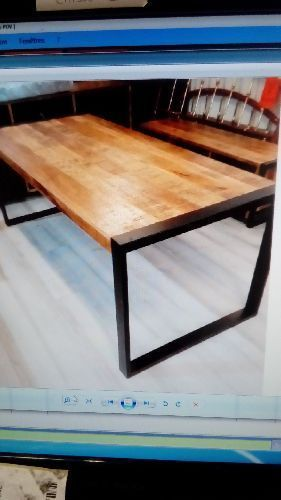 TABLE INDUST MET. BOIS BRUSSELS 180 X 90 RF 37040