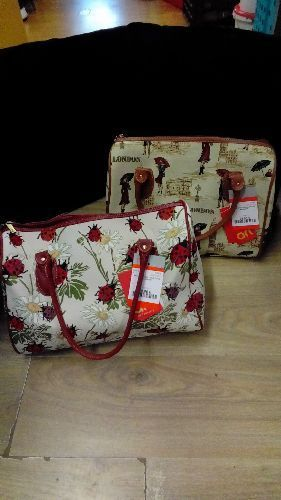 SAC A MAIN GM TOILE STYLE BRODERIE
