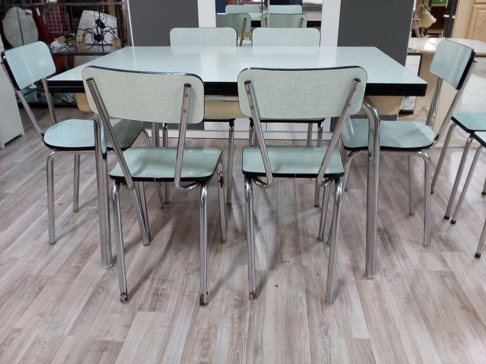 Table Formica Verte 6 Chaises 2 Tabourets Occasion Troc 24