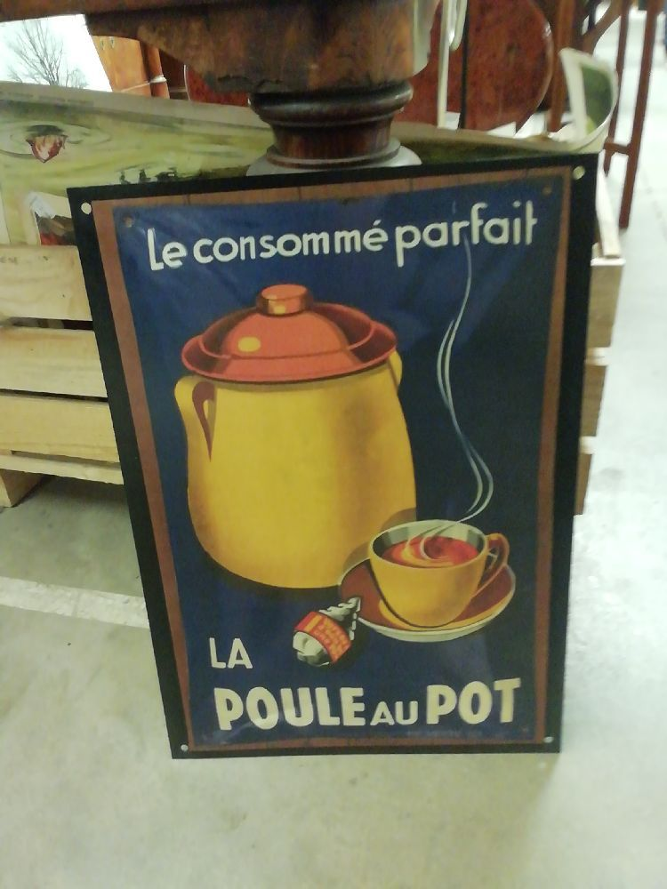 PLAQUE LA POULE AU POT