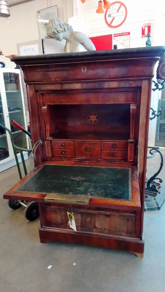 secretaire louis philippe acajou occasion troc nancy. Black Bedroom Furniture Sets. Home Design Ideas