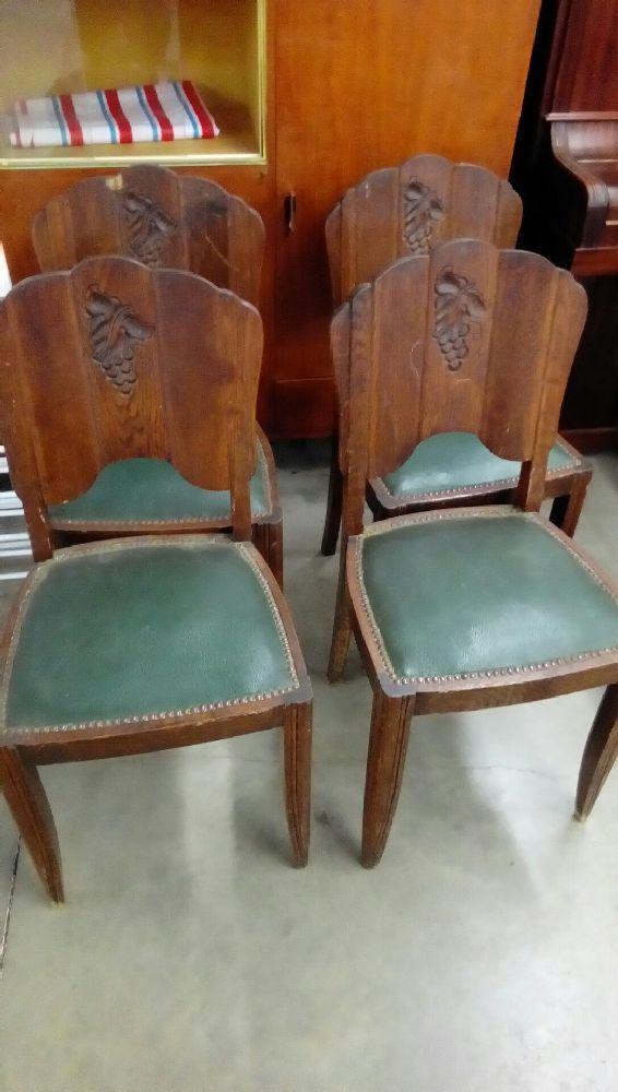 Lot De 4 Chaises Art Deco Occasion Troc Nancy