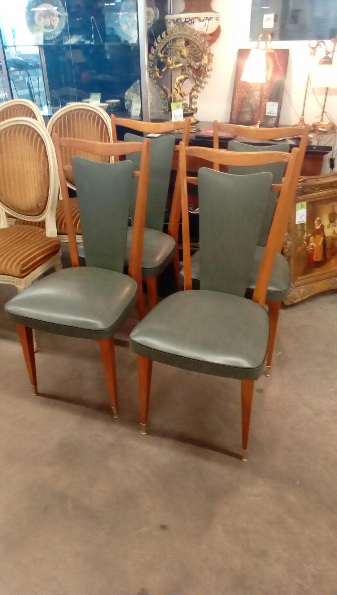 lot de 4 chaises skai occasion troc nancy. Black Bedroom Furniture Sets. Home Design Ideas
