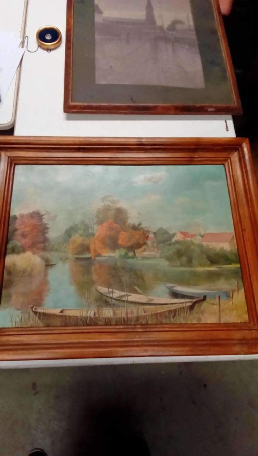Peinture Sur Bois Barques Occasion Troc Nancy