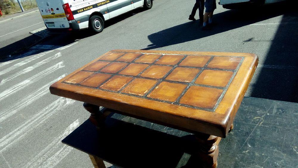 Table Basse Carrelage Et Chêne Occasion Troc Forbach