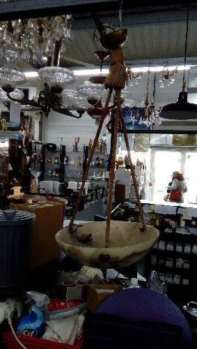 Lampe Pate De Verre Ancienne Occasion Troc Forbach