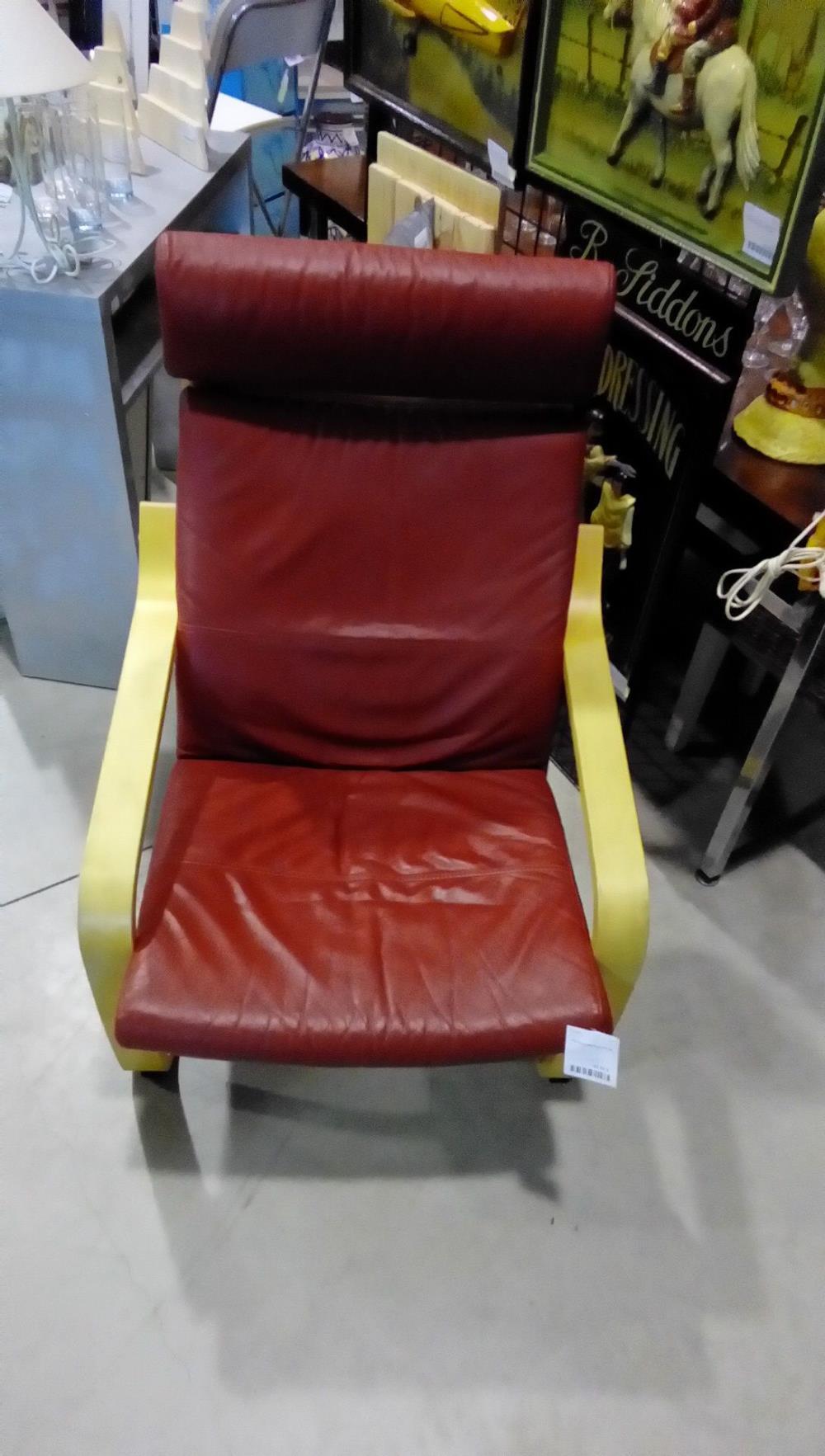 fauteuil ikea cuir rouge occasion la boutique du chineur. Black Bedroom Furniture Sets. Home Design Ideas