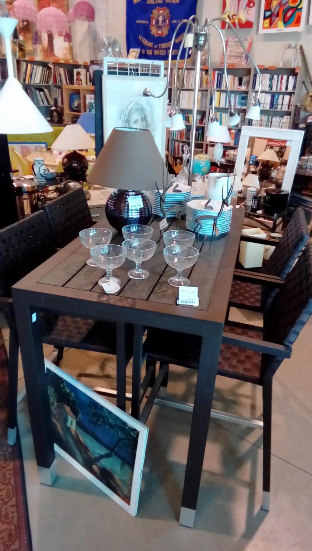 TABLE DE JARDIN ALU+4 FAUTEUILS COOL GARDEN occasion - La boutique ...