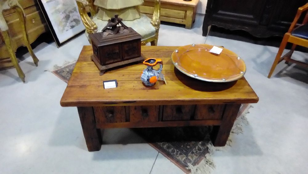 TABLE BASSE STYLE MEXICAINE 2TIROIRS
