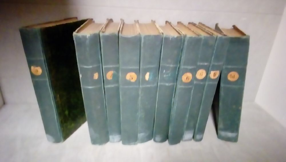 LOT DE 10 VOLUMES MYSTERE DU PEUPLE E.SUE CUIR VERT