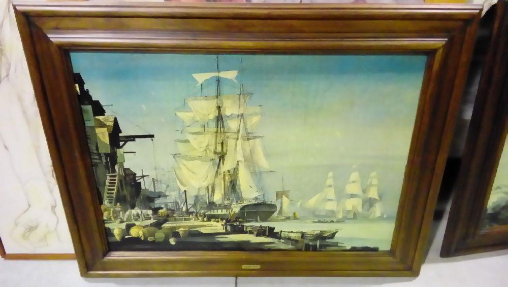 Tableau cadre bois repro bataille navalle occasion la boutique du chineur - Magasin reproduction tableau paris ...
