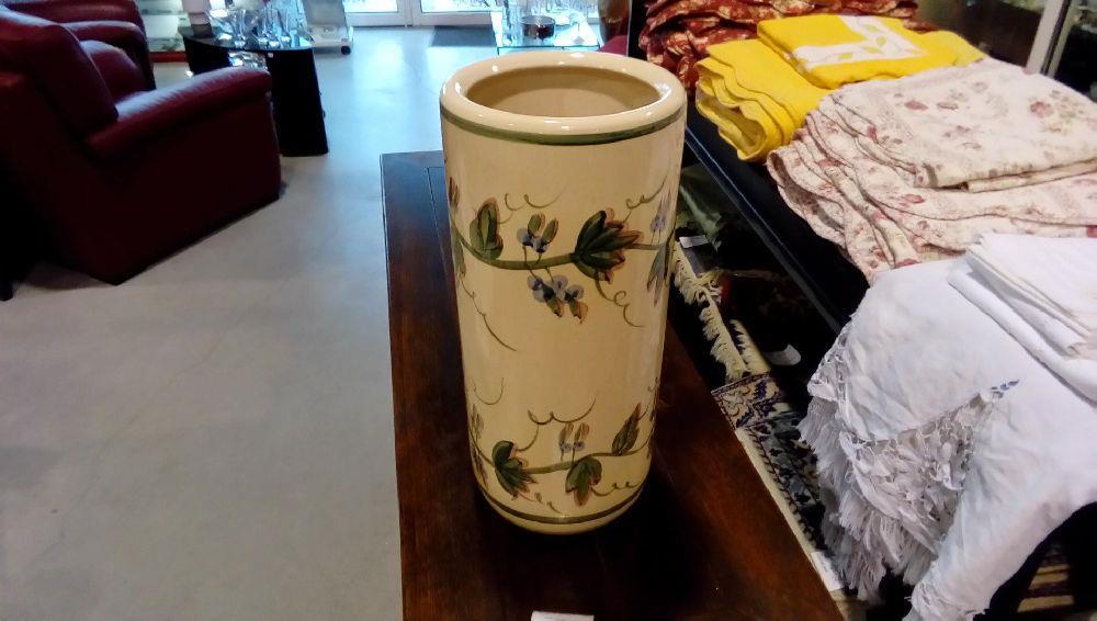 porte parapluie ceramique decor floral occasion la boutique du chineur. Black Bedroom Furniture Sets. Home Design Ideas