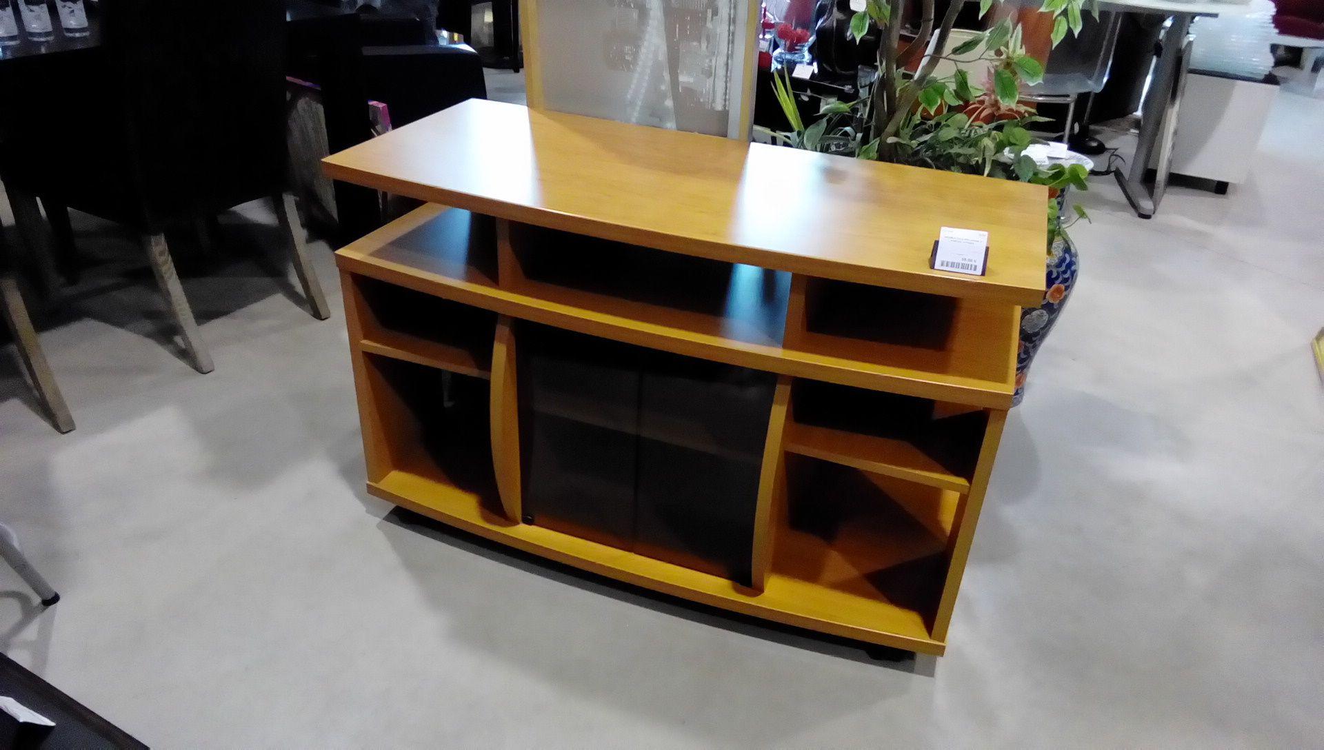 meuble tele melamine 2 portes vitrees occasion la boutique du chineur. Black Bedroom Furniture Sets. Home Design Ideas