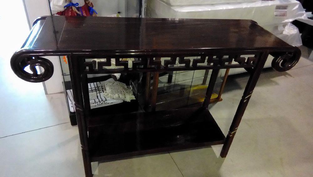 console bois exotique ajouree en etat occasion la boutique du chineur. Black Bedroom Furniture Sets. Home Design Ideas