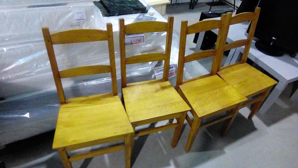 lot de 4 chaises rustique chene occasion la boutique du chineur. Black Bedroom Furniture Sets. Home Design Ideas