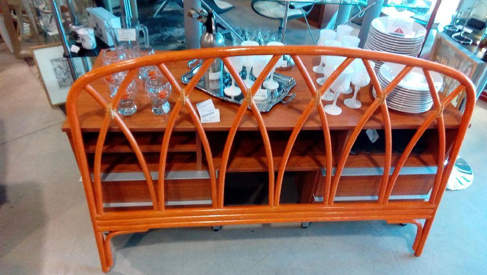 tete de lit rotin orange en 140 neuf la boutique du chineur. Black Bedroom Furniture Sets. Home Design Ideas