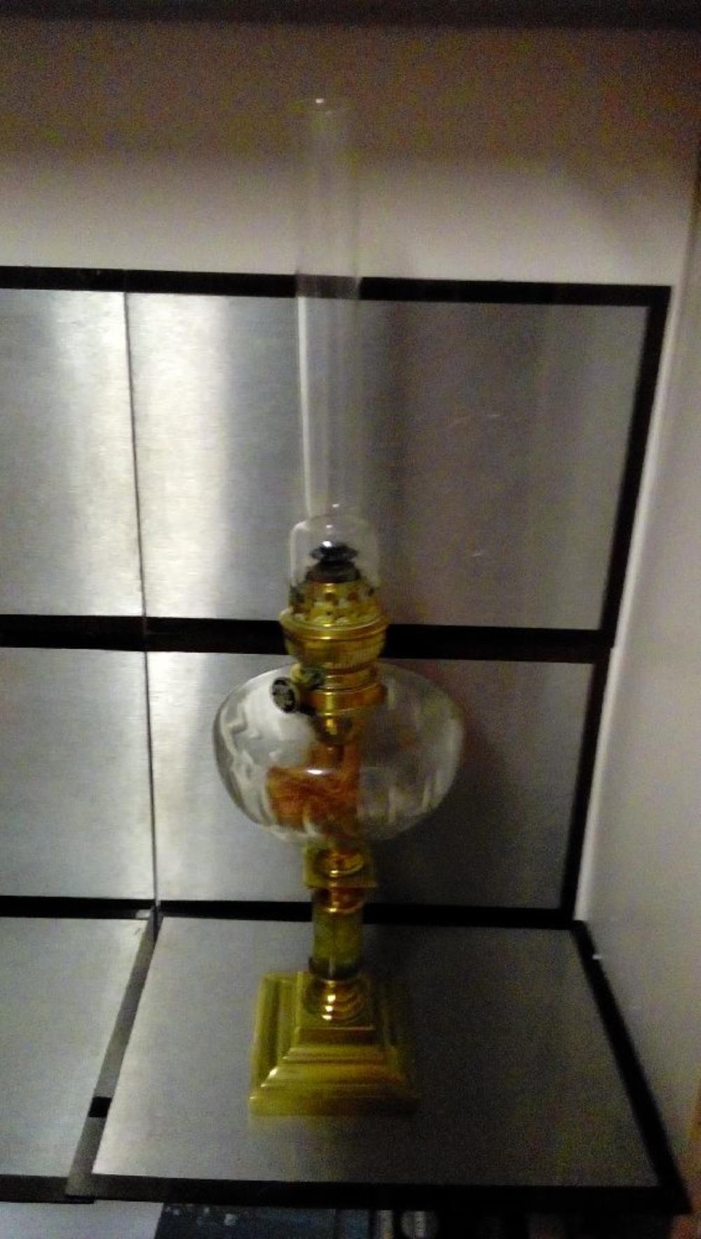 lampe a petrole cuivre et onix occasion la boutique du chineur. Black Bedroom Furniture Sets. Home Design Ideas