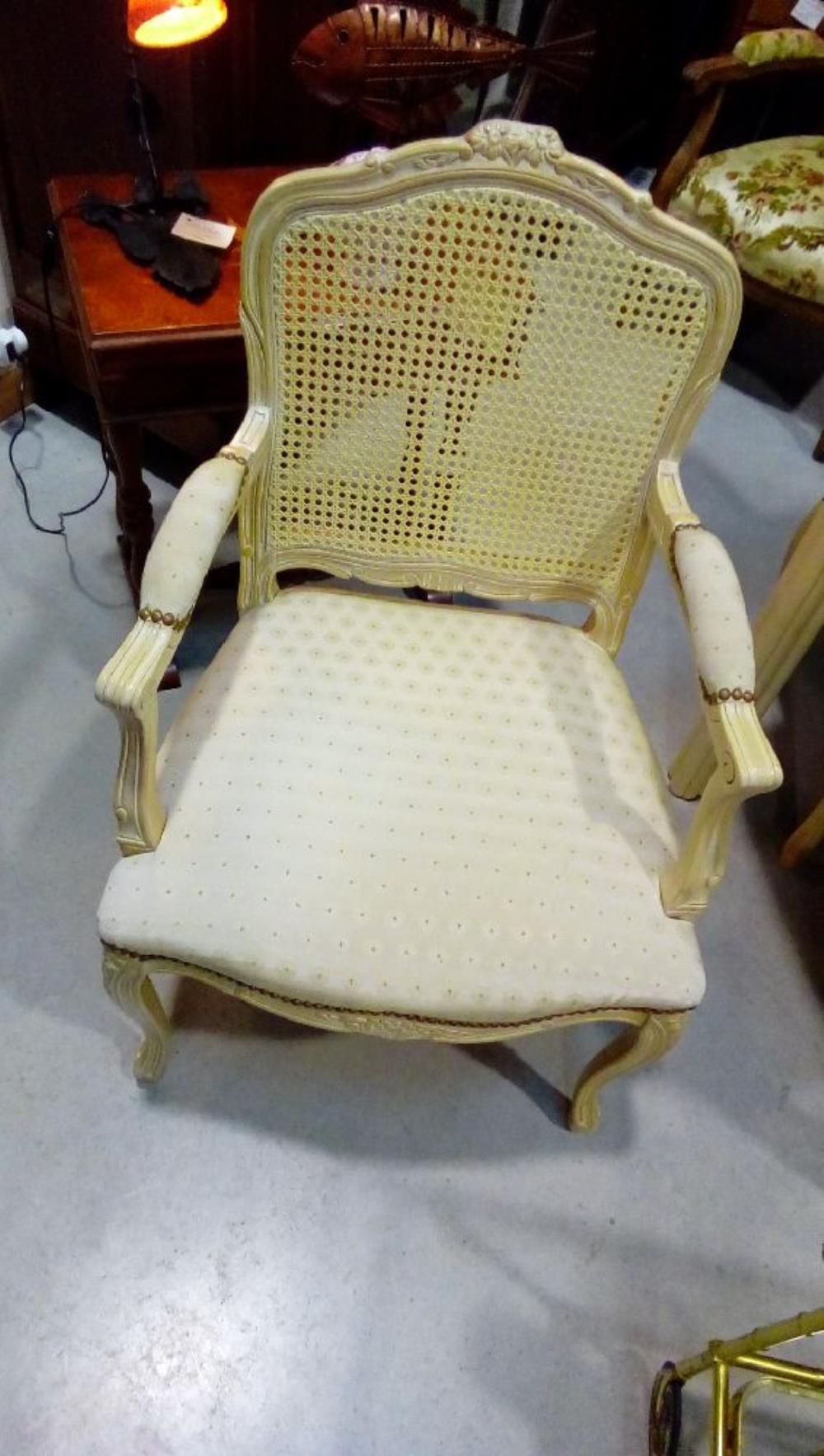fauteuil style louis xv canne tissus en etat occasion la boutique du chineur. Black Bedroom Furniture Sets. Home Design Ideas