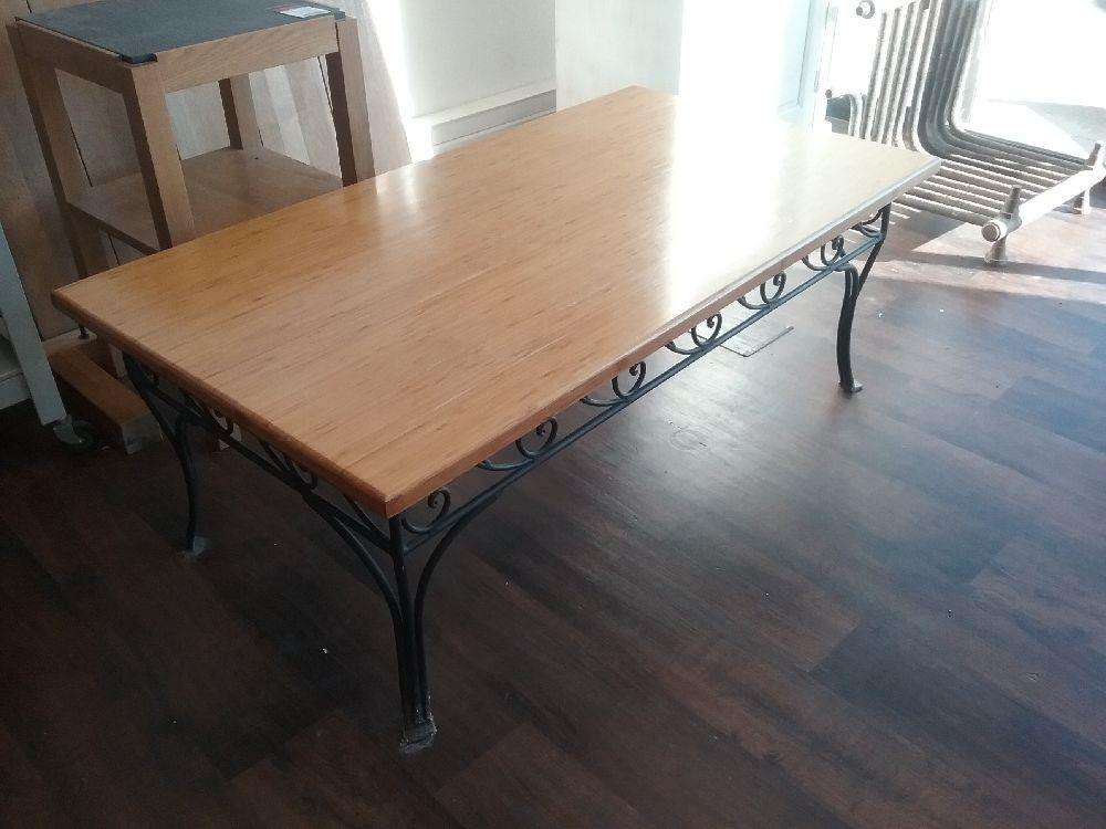Table Basse Tube Chene Occasion Troc Carcassonne