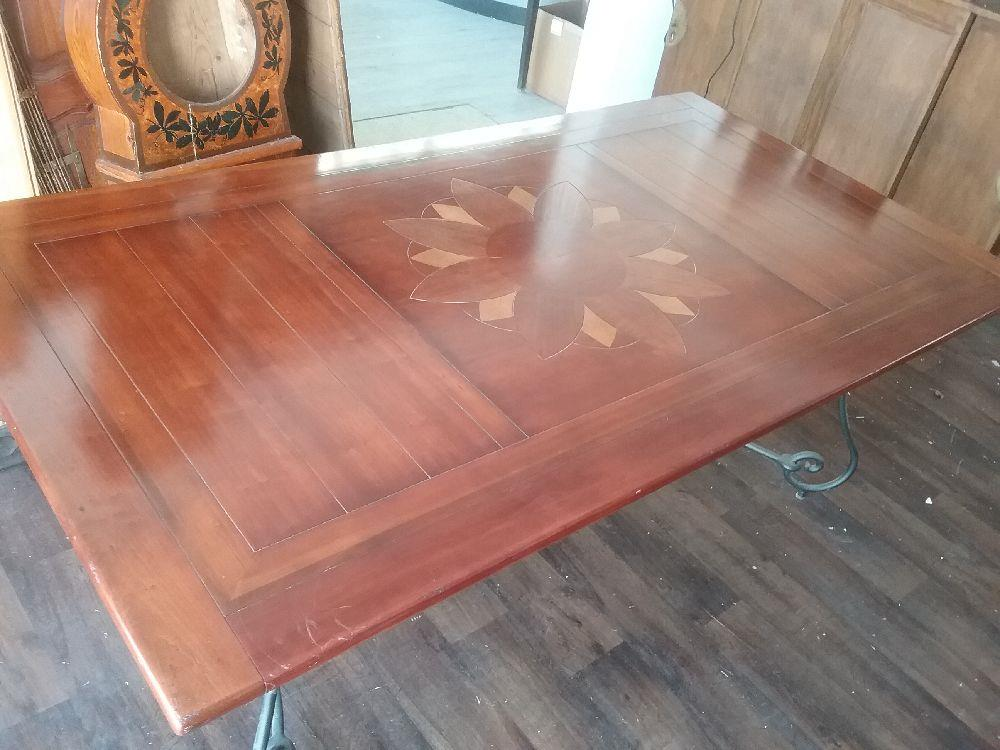 Table Pied Fer Forge Occasion Troc Carcassonne