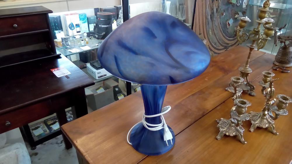 Lampe Champignon Pate De Verre Occasion Troc 35