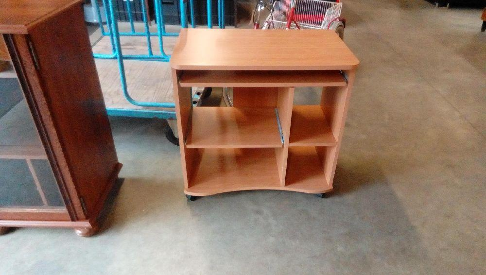 Bureau À roulettes tiroir niches bois clair occasion troc fecamp