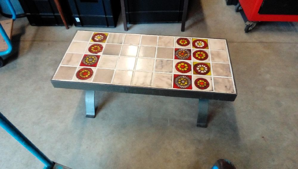 Table Basse Carrelee Pieds Fer Forge Occasion Troc Fecamp