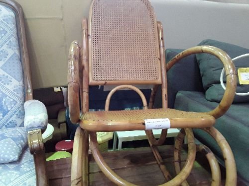 ROCKING CHAIR BAMBOU NAT CANNE